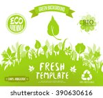 100  organic  eco friendly  ... | Shutterstock .eps vector #390630616