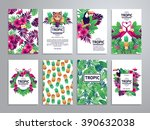 tropical printable set. vector... | Shutterstock .eps vector #390632038