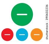 negative symbol. minus sign.... | Shutterstock . vector #390632236