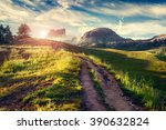 fantastic summer scene in the... | Shutterstock . vector #390632824