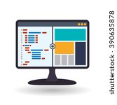 responsive web design  | Shutterstock .eps vector #390635878