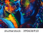 people are colored fluorescent... | Shutterstock . vector #390636910