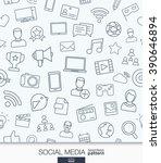 social media wallpaper. network ... | Shutterstock .eps vector #390646894