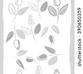 seamless pattern  doodles ... | Shutterstock .eps vector #390650359