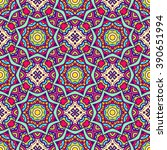 ethnic seamless pattern. vector ... | Shutterstock .eps vector #390651994