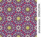 ethnic seamless pattern. vector ... | Shutterstock .eps vector #390651994