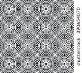 black and white geometric... | Shutterstock .eps vector #390654070