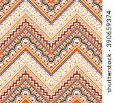 seamless hand drawn chevron... | Shutterstock .eps vector #390659374