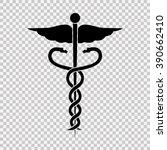 caduceus medical symbol. | Shutterstock .eps vector #390662410
