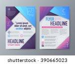 abstract vector brochure flyer... | Shutterstock .eps vector #390665023