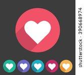 Heart  Love Icon Flat Web Sign...