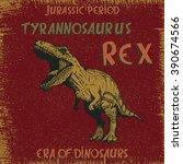tyrannosaurus rex angry... | Shutterstock .eps vector #390674566
