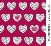geometrical hearts shapes on... | Shutterstock .eps vector #390678709
