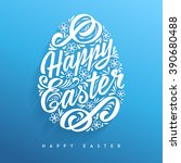 happy easter greeting card ...   Shutterstock .eps vector #390680488