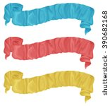long ribbon set in painted... | Shutterstock .eps vector #390682168