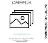 web line icon. gallery  design... | Shutterstock .eps vector #390683890