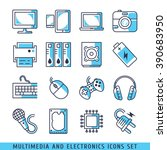multimedia and electronics... | Shutterstock .eps vector #390683950