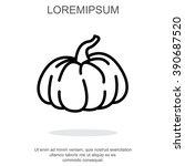 web line icon. pumpkin   Shutterstock .eps vector #390687520