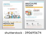 brochure design template.... | Shutterstock .eps vector #390695674