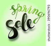 sale hand lettering design....   Shutterstock .eps vector #390696793