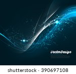 vector wave abstract design | Shutterstock .eps vector #390697108
