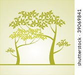 background with a tree | Shutterstock . vector #39069841