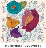 vector bloom colorful... | Shutterstock .eps vector #390698569