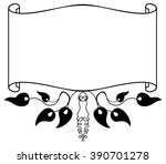 elegant frame with silhouettes... | Shutterstock .eps vector #390701278