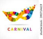 carnival celebrating multi... | Shutterstock .eps vector #390714619