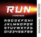 sport font. vector alphabet... | Shutterstock .eps vector #390715420