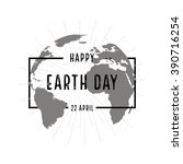 earth day holiday poster with... | Shutterstock .eps vector #390716254