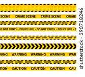 set of seamless caution tapes | Shutterstock . vector #390718246