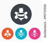 honey bees icons. bumblebees... | Shutterstock . vector #390719320