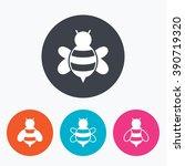 honey bees icons. bumblebees...   Shutterstock . vector #390719320