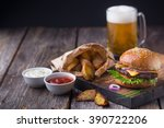 Appetizing Homemade Burger Wit...