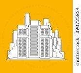 residential icon design  | Shutterstock .eps vector #390725824