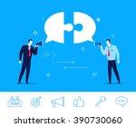 flat design vector concept... | Shutterstock .eps vector #390730060