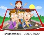 vector cartoon teenagers in... | Shutterstock .eps vector #390734020