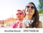 having weekend in summer park | Shutterstock . vector #390740818