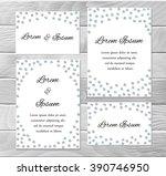 set of festive cards template.... | Shutterstock .eps vector #390746950