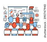 business class  corporate... | Shutterstock .eps vector #390747940