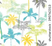 vector palm trees california... | Shutterstock .eps vector #390762313