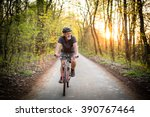 senior man on his mountain bike ... | Shutterstock . vector #390767464