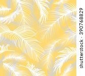 palm leaves seamless pattern | Shutterstock .eps vector #390768829