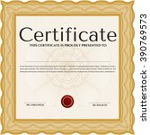 awesome certificate template.... | Shutterstock .eps vector #390769573