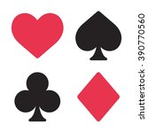 playing card symbols set in...