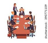 directors board meeting.... | Shutterstock .eps vector #390771109