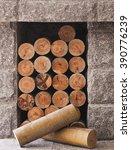 stacked wood | Shutterstock . vector #390776239