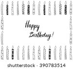 hand drawn party background... | Shutterstock .eps vector #390783514