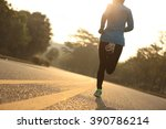 young fitness woman runner... | Shutterstock . vector #390786214